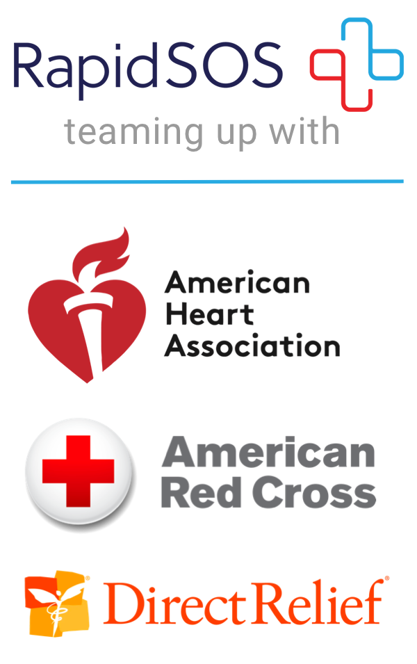 RapidSOS, teaming up with American Heart Association, American Red Cross, and Direct Relief